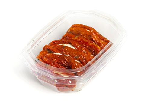 Obrázek Sušená rajčátka plněná čerstvým sýrem v řepkovém oleji