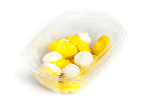 Obrázek Žluté mini patizony plněné sýrem v řepkovém oleji
