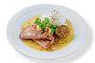 Obrázek Asijské kari s hovězím rib eye steakem sous-vide a jasmínovou rýží
