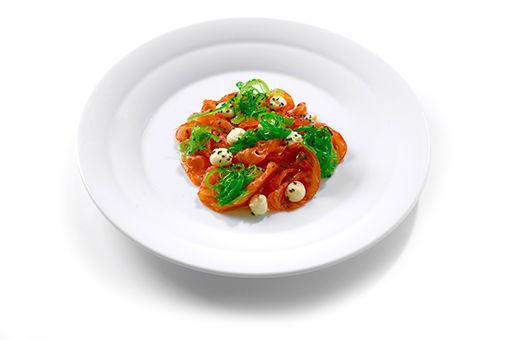 Obrázek Perfect Gravlax z lososa (100 g), wakame salát (80 g), limetková mayo (50 g)