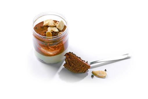 Obrázek Čokoládovo-banánový dezert na lžičku