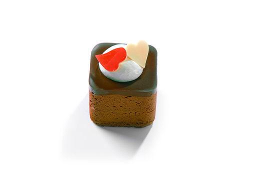 Obrázek Čokoládová kostka 70% kakaa se srdíčkem