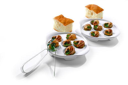 Obrázek Šneci s česnekovým máslem (12 ks), Focaccia