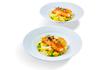 Obrázek Šafránové risotto, losos sous-vide, zelený hrášek, sýr