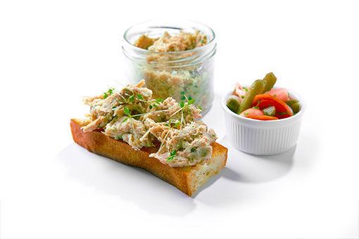 Obrázek Králičí rillettes se sladko-kyselým zeleninovým pickles